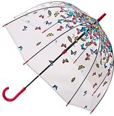 Fulton Birdcage Raining Butterfly Umbrella, Clear/Multi