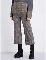 Marc Jacobs Prince of Wales check straight cropped high-rise woven trousers