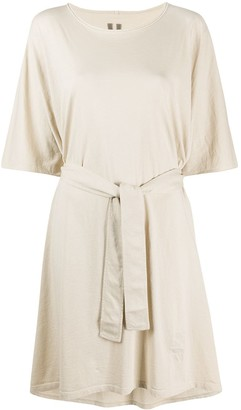 Rick Owens tie-waist T-shirt dress