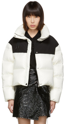 Moncler White and Black Down Nil Jacket