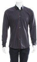 Gucci Plaid Web Button-Up Shirt