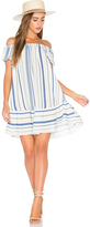 Eight Sixty Off Shoulder Stripe Dress