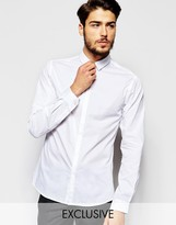 Noak Shirt With Micro Collar In Skinny Fit