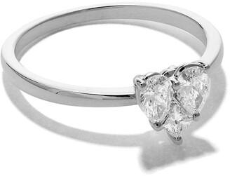As 29 18kt white gold Mye heart illusion diamond ring