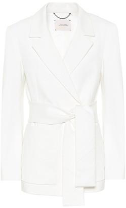Exclusive to Mytheresa Emotional Essence jersey wrap blazer