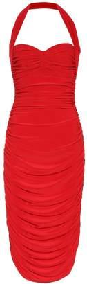Norma Kamali Bill jersey halter dress