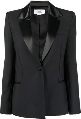 Victoria Victoria Beckham Satin-Trimmed Single-Breasted Blazer