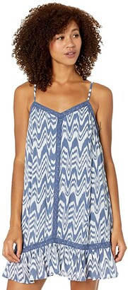 Rock and Roll Cowgirl Tie-Dye Crinkle Cotton Dress D5-9940