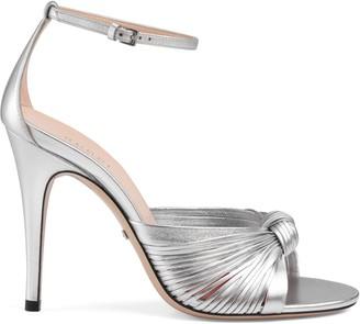 Gucci Metallic leather sandal