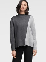 DKNY Colorblock Turtleneck Pullover
