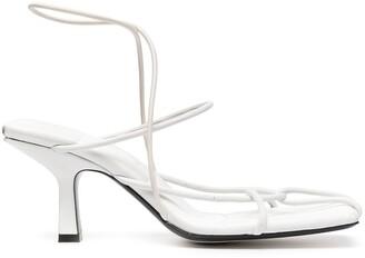 KHAITE Low Heel Strappy Sandals