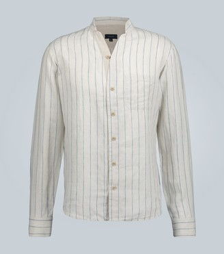 Sease Mandarin-collar linen shirt
