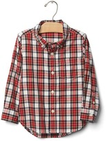 Gap Plaid button-down poplin shirt