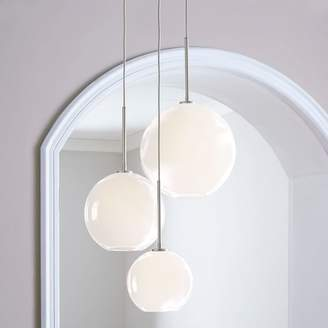 "west elm Sculptural Glass 3-Light Globe Chandelier - Milk (21"")"