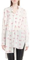 Loewe Women's Floral Print Asymmetrical Shirt