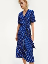 Tommy Hilfiger All-Over Print Viscose Wrap Dress