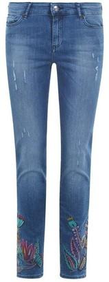 Armani Exchange Floral Super Skinny Cropped Jeans