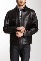 Cole Haan Genuine Leather Moto Jacket