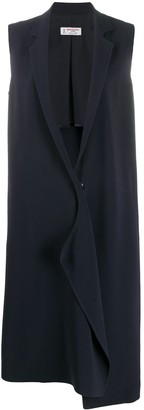 Alberto Biani Asymmetric Sleeveless Coat