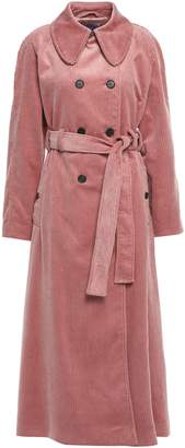 ALEXACHUNG Double-breasted Cotton-corduroy Trench Coat