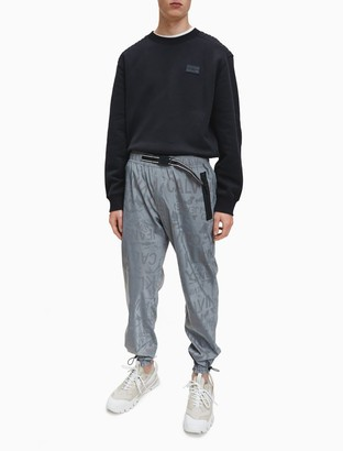 Calvin Klein Reflective Logo Belted Track Pants