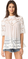Zimmermann Caravan Embroidered Smock Top