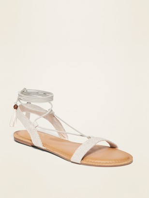 Old Navy Strappy Lace-Up Textile Sandals for Women