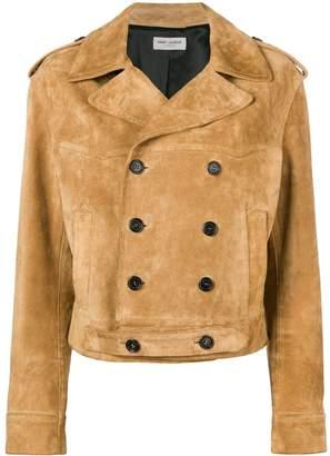 Saint Laurent classic box-fit leather jacket