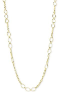 """Argentovivo Oval Link 36"""" Chain Necklace in 18k Gold-Plated Sterling Silver"""