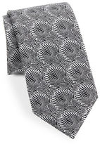 Vince Camuto Abstract Floral Silk-Blend Tie