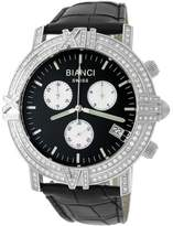 Roberto Bianci Men's 1849F_BLK_BLKBND Diamond Accented Chronograph Date Watch