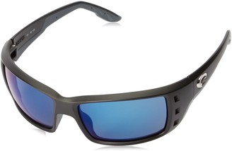 Costa del Mar Permit Sunglasses Matte Black/Blue Mirror 580Plastic