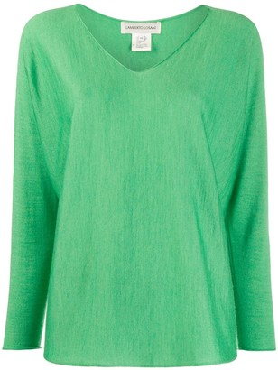 Lamberto Losani V-Neck Cropped-Sleeve Jumper
