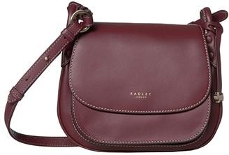 Radley London Harper Road - Medium Flapover Crossbody (Merlot) Handbags