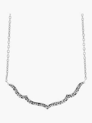 Lois Hill Scroll Curved Pendant Necklace