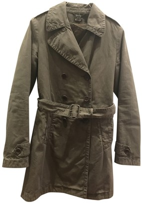 Aspesi Khaki Cotton Trench Coat for Women