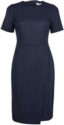 Dorothy Perkins Womens Petite Pinstriped Double Layer Dress