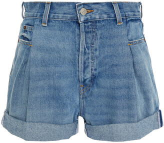 RE/DONE 40s Zoot Pleated Denim Shorts
