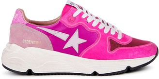 Golden Goose Running Sole pink panelled sneakers