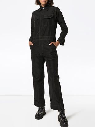 Ganni contrast stitch utility jumpsuit