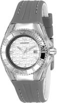Technomarine Women's Cruise Stainless Steel Quartz Watch with Silicone Strap Grey 24 (Model: TM-116003)