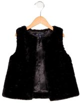 Lili Gaufrette Girls' Faux Fur Vest