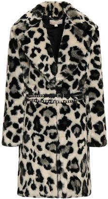 MICHAEL Michael Kors Belted Leopard-print Faux Fur Coat