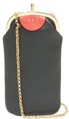 Marni Colour-block Leather Cross-body Bag - Black Multi
