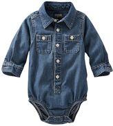 Osh Kosh Baby Boy Button-Down Denim Bodysuit