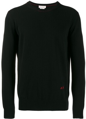 Alexander McQueen embroidered logo jumper