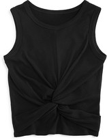 Aqua Girls' Twist Front Ribbed Tank , Big Kid - 100% Exclusive