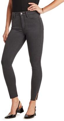 The Stiletto High Waist Raw Hem Ankle Skinny Jeans