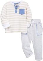Isaac Mizrahi Long Sleeve Striped Tee & Pant Set (Baby Boys 0-9M)
