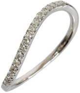 Mikimoto 18K White Gold 0.15ct Diamonds Curved Ring